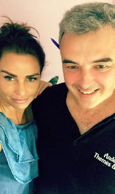 Fraser Anderson with Katie Price