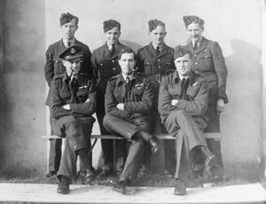 Squadron Leader Terence Bulloch with his crew from 120 Sqn