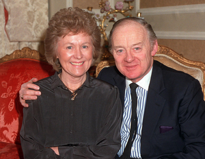 Barney Eastwood with his wife Frances