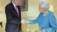 The Queen meets Deputy First Minister Martin McGuinness at Hillsborough Castle