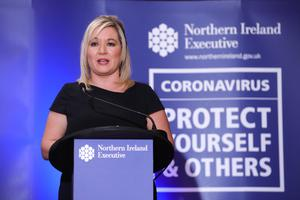 Deputy First Minister Michelle O'Neill at Stormont yesterday