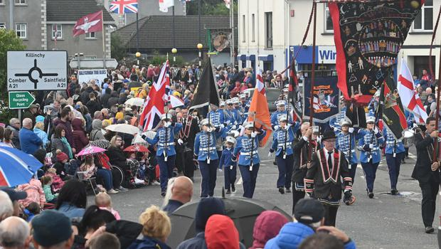 The Royal Black Institution parade which took place in Ballygowan