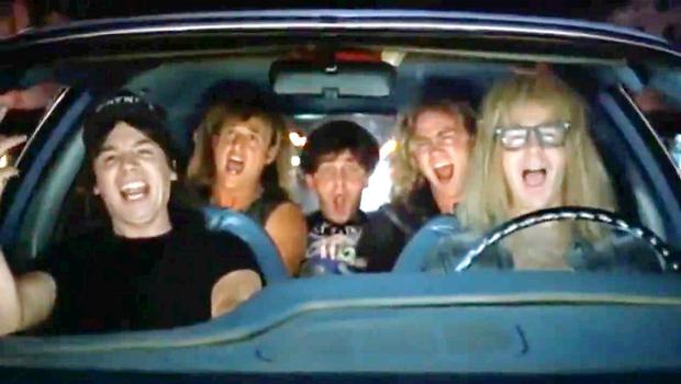 The famous scene from Wayne's World featuring the song