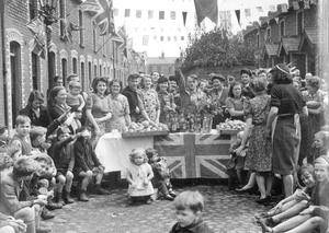 A VE Day street party in Medway Street in 1945