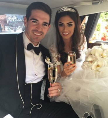 Kyle Lafferty with his wife, Scots model Vanessa Chung