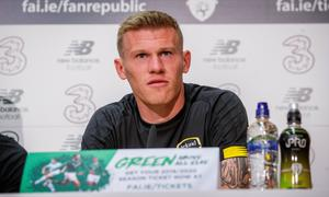 Footballer James McClean, who is planning a special birthday surprise for the children