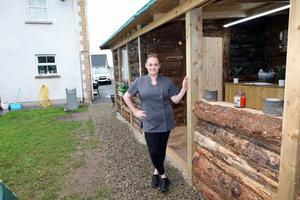 Jeanette Guy from Irvinestown who turned a space in her garden into a beauty salon/day spa. Photo by Peter Morrison