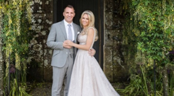 Celtic boss Brendan Rodgers and his new bride Charlotte Searle