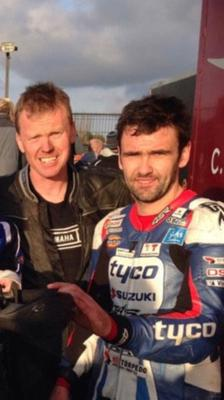 Philip Wylie with road racing hero William Dunlop