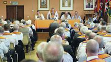 The packed Tamnamore Orange Hall, Dungannon, Co Tyrone