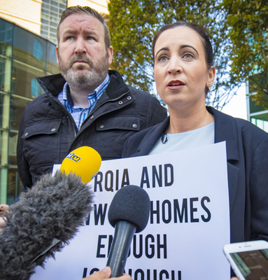 Julieann McNally headed a campaign to investigate care home conditions