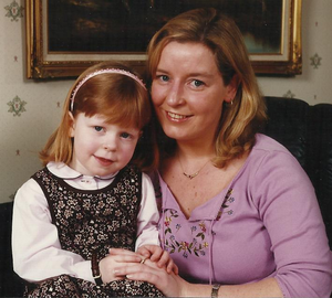 A treasured family picture of Karyn with her daughter Danielle in childhood