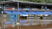 Institute FC's pitch was also submerged under water