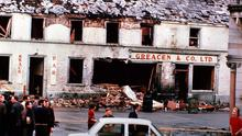 The aftermath of the bomb in Monaghan town