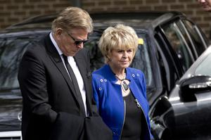 Gloria Hunniford and her husband Stephen Way at the service