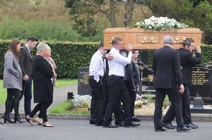 The funeral cortege as loved ones mourn the death of Annette Preston who died in a boating accident on Saturday
