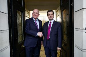 Secretary of State James Brokenshire (right) with Irish Foreign Minister Charlie Flanagan