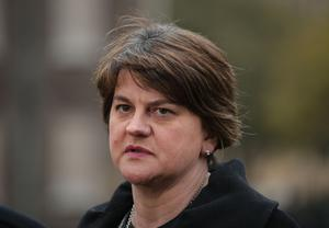 Arlene Foster's party has been accused of getting cold feet in the face of an internal revolt from grassroots members angry about potential concessions (Yui Mok/PA)
