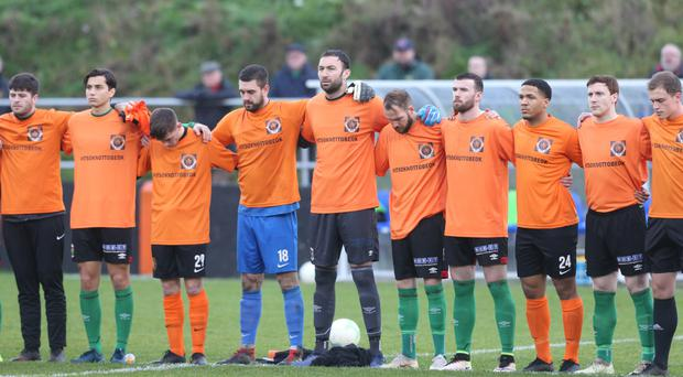 Carrick Rangers teammates of the late Jerry Thompson