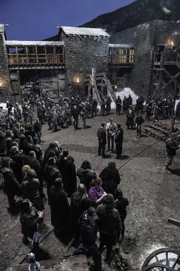 On the set of Game of Thrones