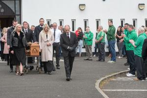 The funeral of Brian Duffy