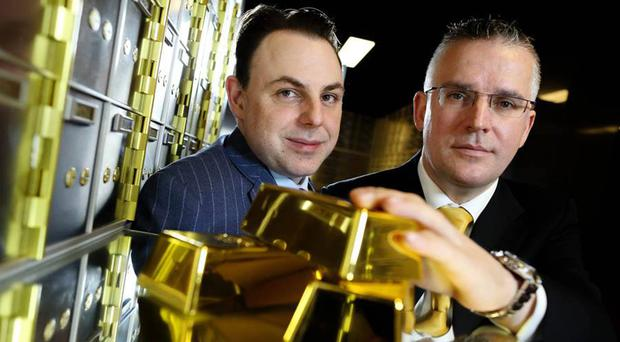 David Walsh and Seamus Fahy co-founders of Merrion Vaults in Dublin which has seen an increase in the number of customers from Northern Ireland over sterling fears after Brexit (PA)