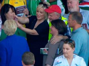 Michelle O'Neill and Mrs Foster pose for a selfie