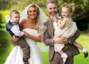 Bronagh and Thomas Burke on their wedding day with Aoife and Adam