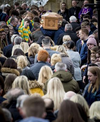The funeral of Connor Currie takes place at St Malachy's Church, Edendork