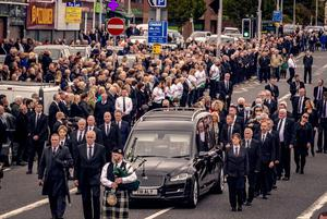 Controversy: The funeral of Bobby Storey
