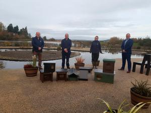 Helping out: Maghaberry prisoners have created dozens of nesting and breeding boxes for endangered birds at Castle Espie