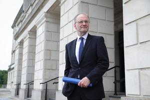 Criticism: Education Minister Peter Weir at Parliament Buildings, Stormont