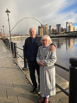 So close: Tommy Cassidy with wife Rosemary