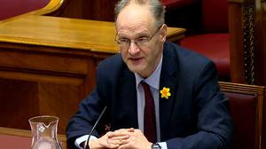 Education Minister Peter Weir (Northern Ireland Assembly/PA)