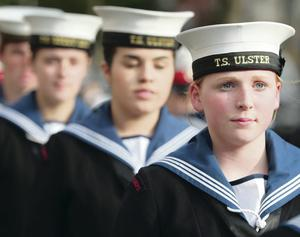 Young Sea Cadets pay their respects