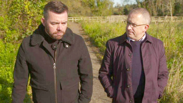 Kevin Brown (left) with Spotlight reporter Stephen Dempster