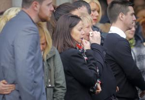 Other mourners at the funeral