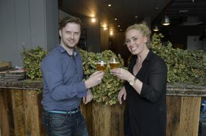 Chris McClelland with Lisa Maltman from Brewbot Belfast, which is opening on the Ormeau Road