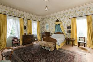 One of the seven bedrooms