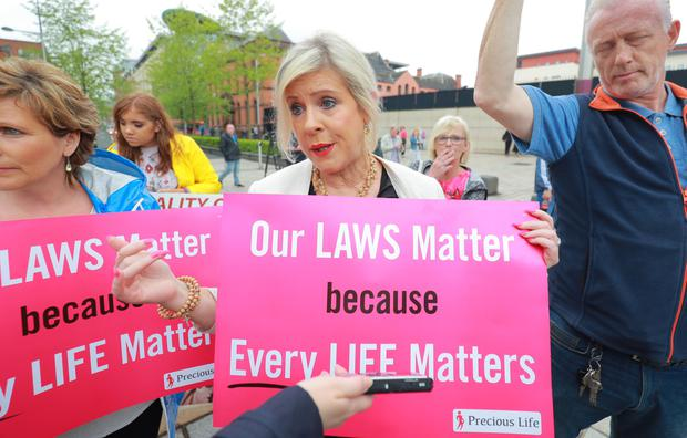 Bernie Smyth takes part in an anti-abortion protest