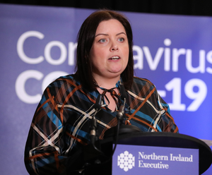 Deirdre Hargey (pictured) is being replaced by Caral Ni Chuilin until her return