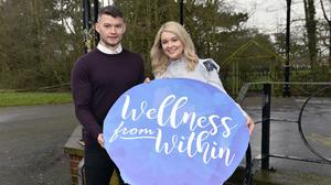 Richie Donnelly and Annette Kelly at the launch of Wellness From Within 2020 (Stephen Hamilton/Press Eye/PA)