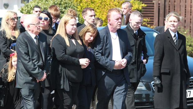 The funeral of Magaluf attack victim Aaron Henderson took place in Coleraine yesterday