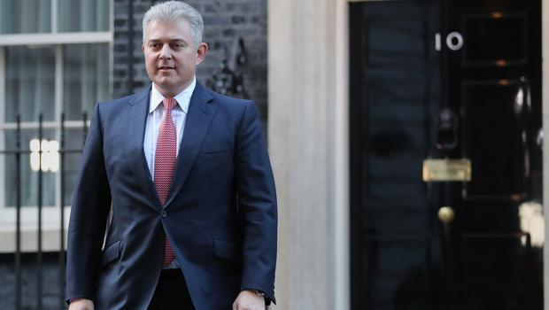 Newly appointed Northern Ireland Secretary Brandon Lewis leaving Downing Street (Aaron Chown/PA)