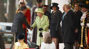 A number of high-profile politicians were present for the welcome ceremony, including Prime Minister Theresa May