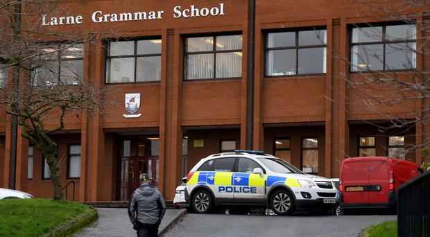 Larne Grammar School where a Year 10 pupil was attacked