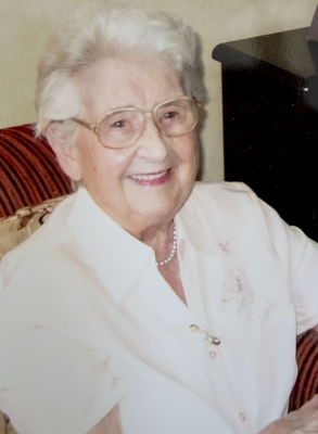 Ellie Lawther on her 100th birthday