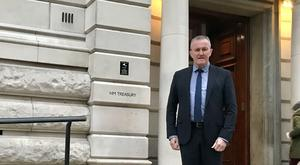 Finance Minister Conor Murphy held talks with Chief Secretary to the Treasury Rishi Sunak on Thursday (Finance Department/PA)