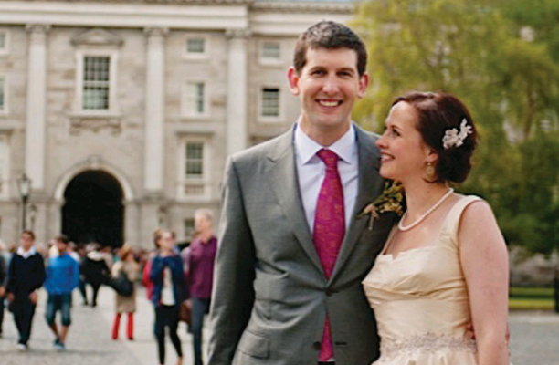 Catherine Bannon from Belfast, and Eoghan Duffy are enjoying family life in China with their son Aodhan following the summer wedding of their dreams in Dublin.