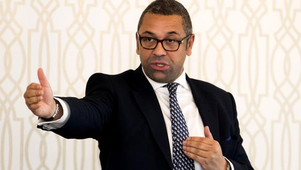 James Cleverly Chairman of the Conservative Party repling to a question during the launch of the Northern Ireland Conservatives manifesto at the Culloden Hotel. PRESS ASSOCIATION Photo. Picture date: Wednesday November 27, 2019. See PA story POLITICS Election Ulster Conservatives. Photo credit should read: Liam McBurney/PA Wire